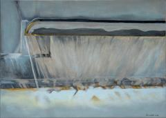Fountain 4, Zürich, 2018, 50 x 70 cm, Oil on canvas